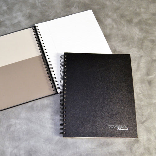 "Hardcover Business Notebook, 8 7/8"" x 11"", Legal Rule, 96 sheets, Black"