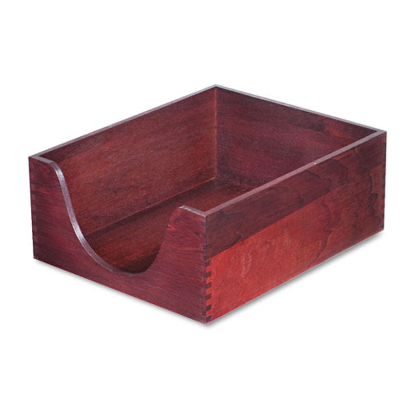 Hardwood Stackable Double Deep Desk Tray (Single)