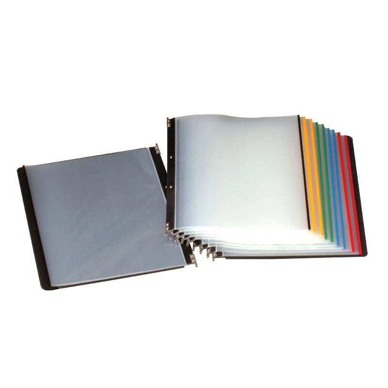 High-Capacity Reference Organizer Pockets (5 Pockets - Holds 50 Sheets)