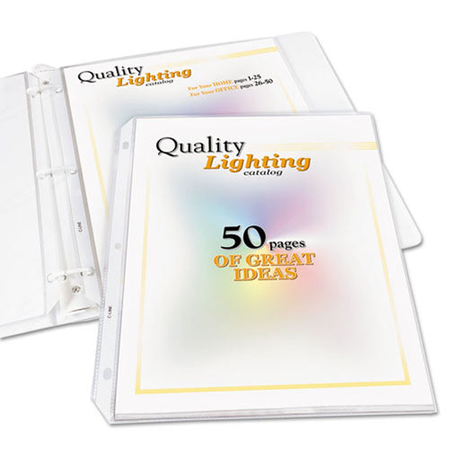 High-Capacity Poly Sheet Protectors, Letter, Clear (pack of 25)