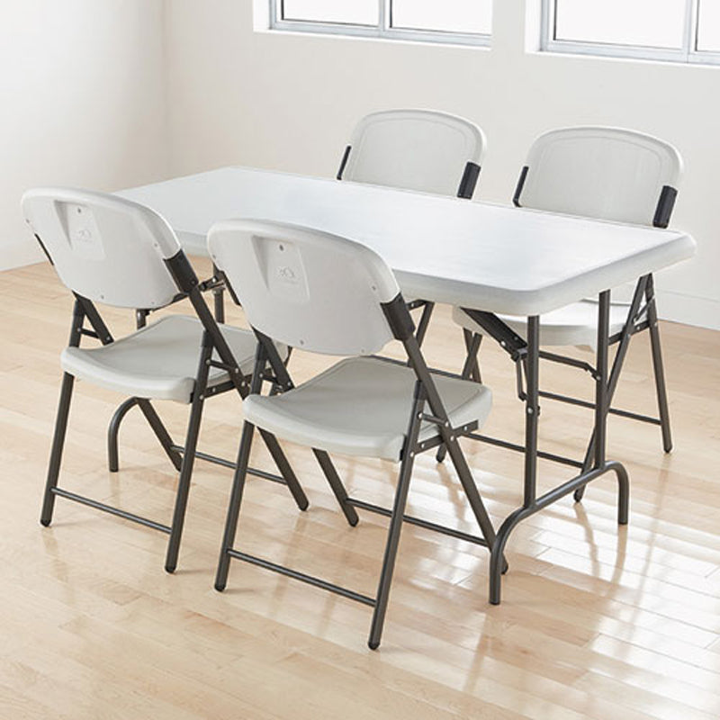 Indestructable Rectangular Blow Molded Resin Folding Table