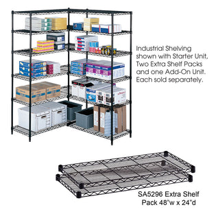 Industrial Extra Shelf Pack, 48 x 24""
