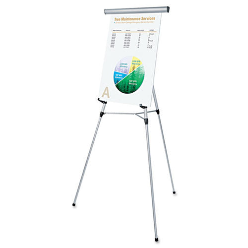 Lightweight Aluminum Telescoping Easel w/ Flipchart Holder