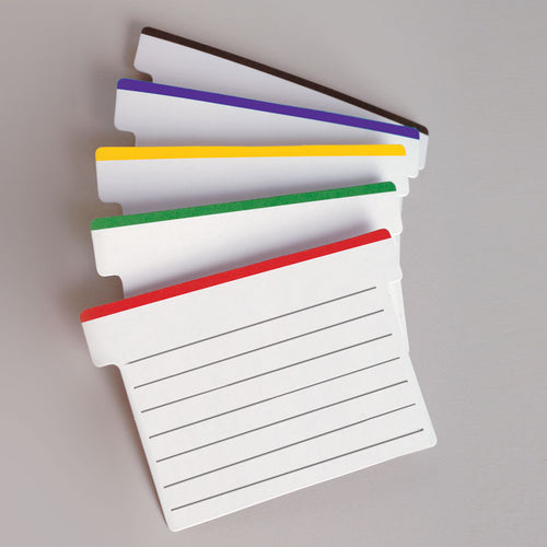 Lined Color-Tipped T-Cards (pack of 100)
