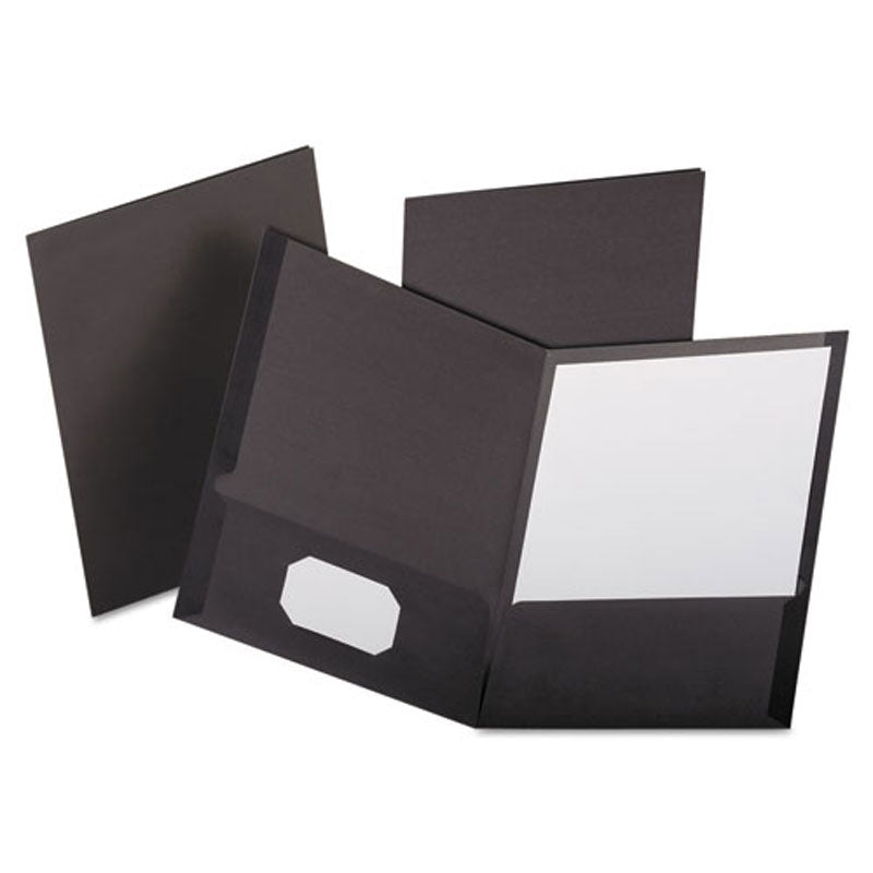 Linen Twin-Pocket Folders, Letter, Box of 25