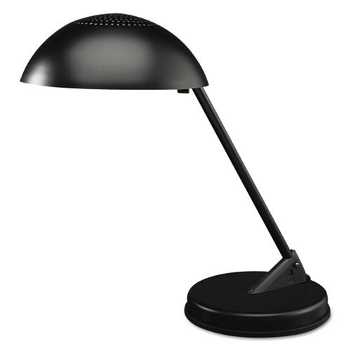 Matte Black Domed Incandescent Desk Lamp