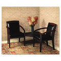 Mercado Guest Chair, Mahogany w/Black Leather