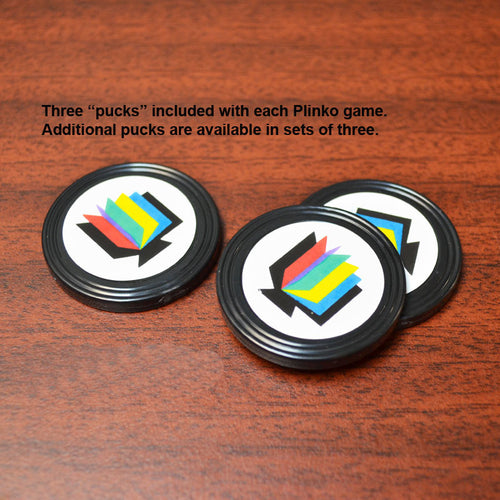 Mini Plinko Pucks, (set of 3)