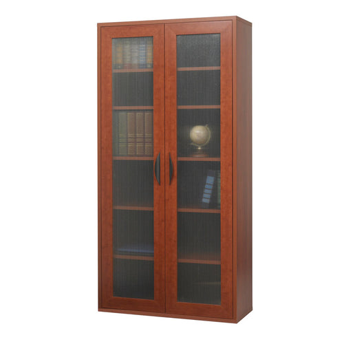 Modular Tall Storage Cabinet with See-Thru Doors