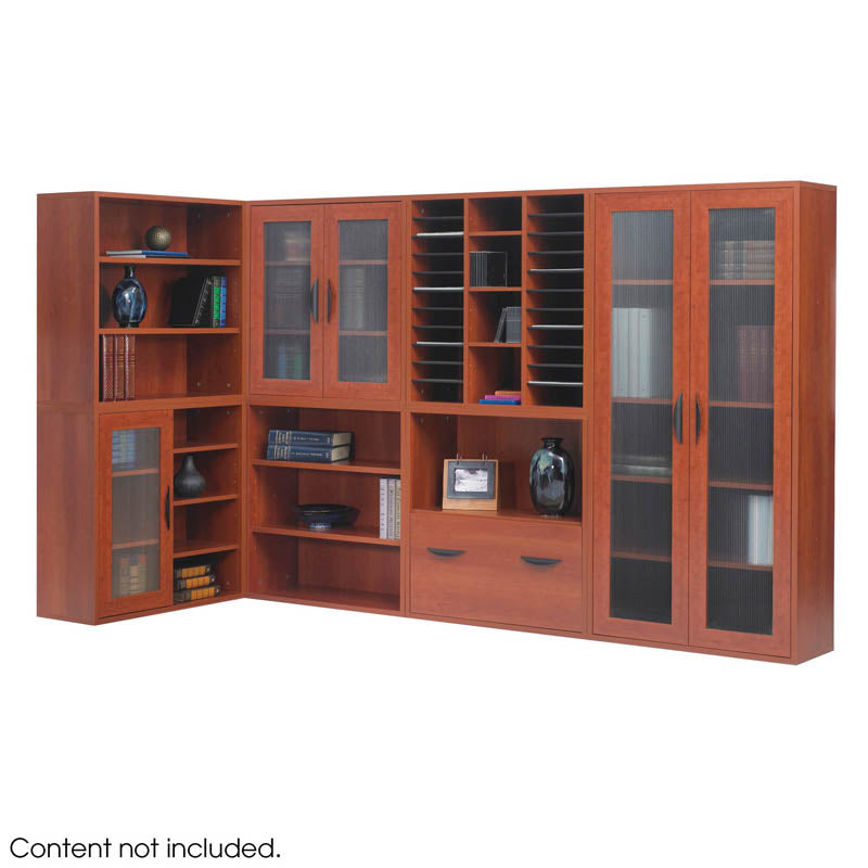 Modular Tall Storage Cabinet With See Thru Doors Ultimate Office