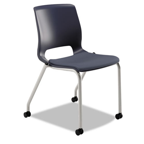Motivate Stacking Chair with Upholstered Seat & Casters (set of 2 chairs)
