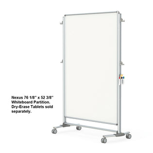 "Nexus 76 1/8"" x 52 3/8"" Whiteboard Partition"