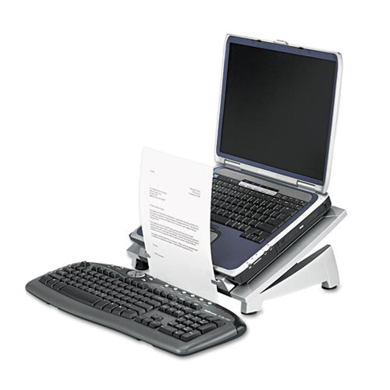 Silver & Black Laptop Riser