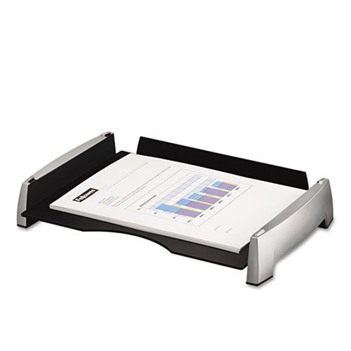 Silver & Black Stacking Desk Tray (Single), Letter