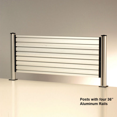 Four OutPost™ Aluminum Rails with 2 Posts