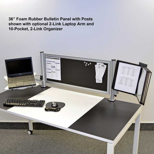 OutPost™ Foam Rubber Bulletin Board Panels with 2 Posts