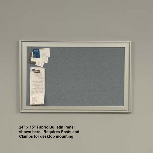 OutPost™ Gray Fabric Bulletin Board Panels
