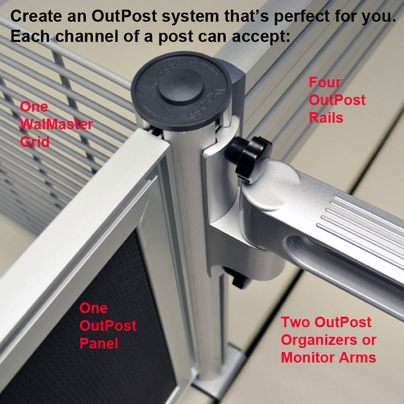 OutPost™ Heavy-Duty Posts with Desk Clamps (set of 2)