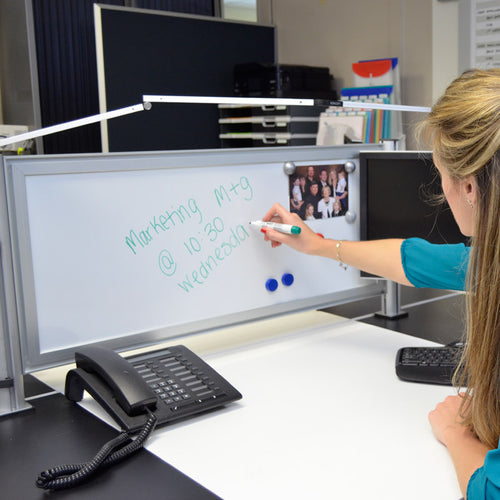 OutPost™ Magnetic Whiteboard Panels with 2 Posts