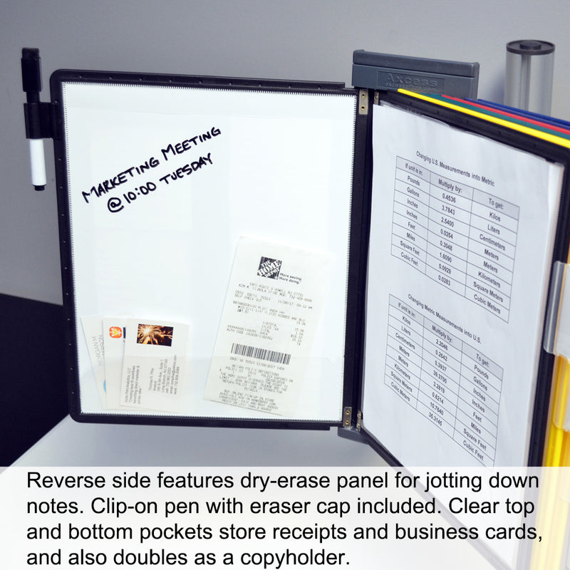 OutPost™ 20-Pocket 2-Link Reference Organizer with Post and Clamp