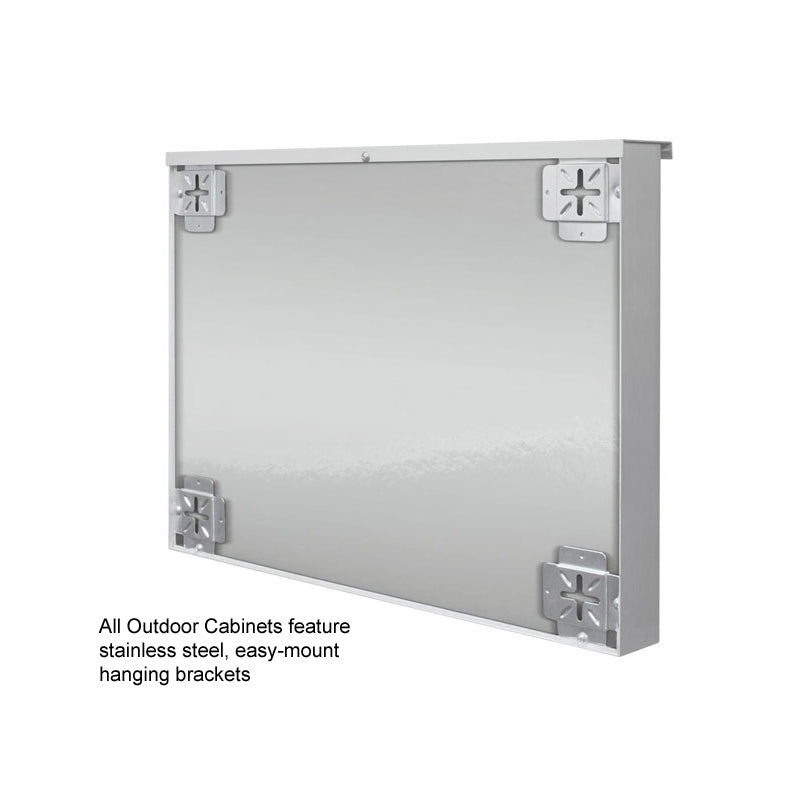 "Outdoor Bulletin Board Cabinet, Top Hinge, 36""h x 48""w, Silver"