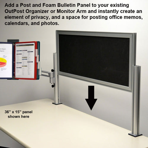 Outpost™ Foam Rubber Bulletin Board Panels with 1 Post