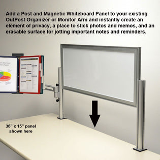 Outpost™ Magnetic Whiteboard Panels with 1 Post