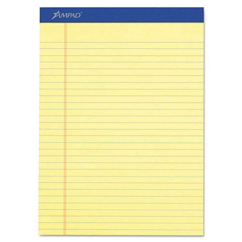 Perforated Writing Pads, Wide Rule, Letter Size, 16# Paper (12-pack, 50 sheet pads)