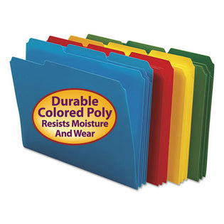 Poly Colored Top Tab File Folders, 3rd-Cut, Letter (box of 24)