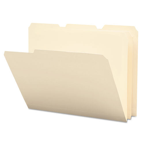 Poly Top Tab Manila File Folders, 3rd-Cut, Letter (12-pack)