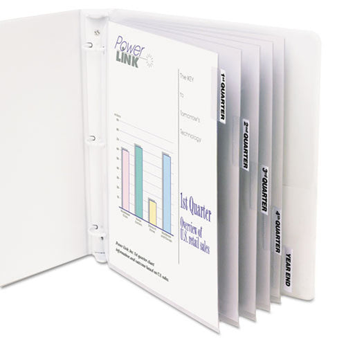 Poly Sheet Protectors w/ 5 Index Tabs, Letter, Clear Tabs (set of 5)
