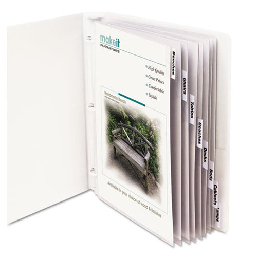 Poly Sheet Protectors w/ 8 Index Tabs, Letter, Clear Tabs (set of 8)