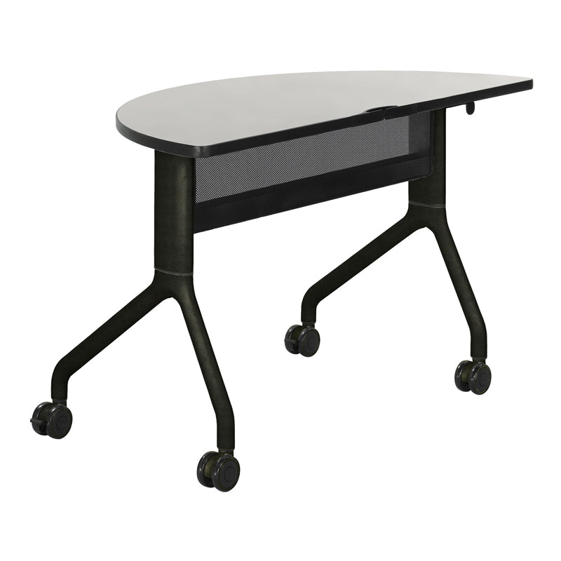 "Premier Folding Conference Table, 48""w x 24""d 1/2-Round"