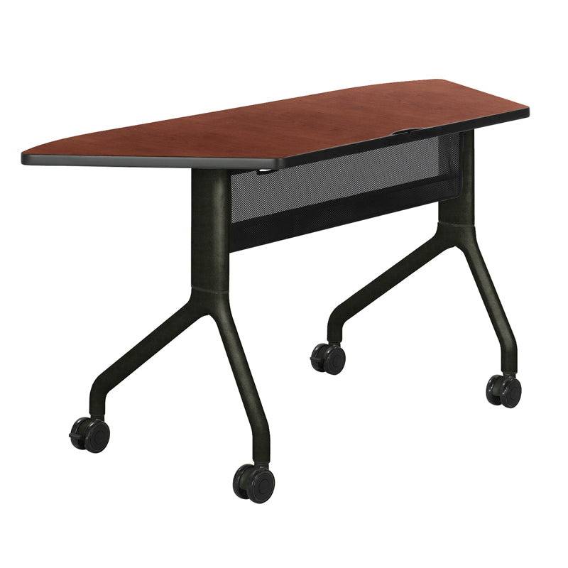 "Premier Folding Conference Table, 60""w x 24""d Trapezoid"