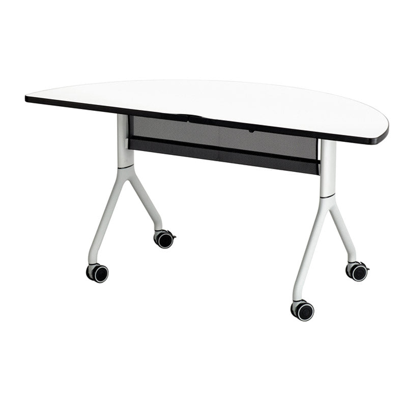 "Premier Folding Conference Table, 60""w x 30""d 1/2-Round"