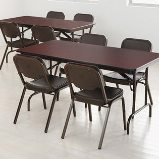 Premium Rectangular Wood Laminate Folding Table