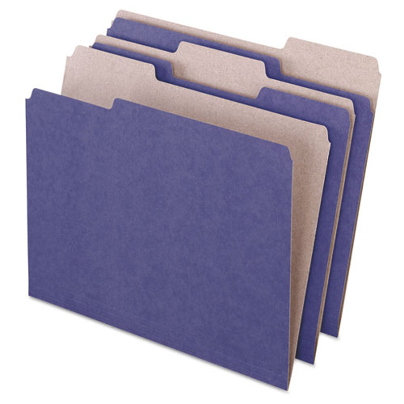 Recycled Colored File Folders, 3rd-Cut, Letter (box of 100)