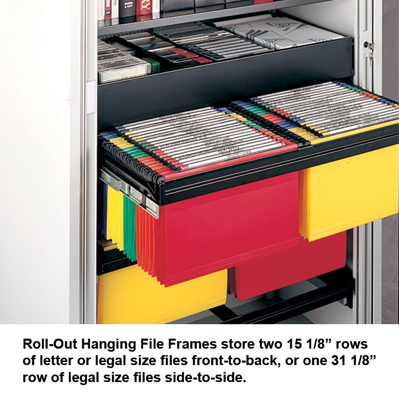 Roll Out Hanging File Frame for Tambour Cabinets | Ultimate Office