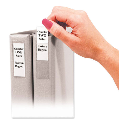 Self-Adhesive Binder Label Holders, 12-pack