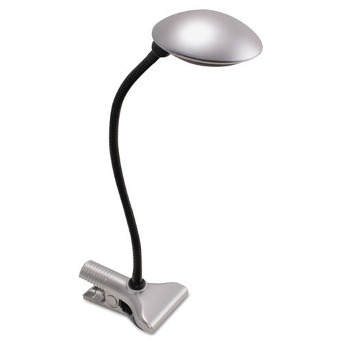 Silver Clip-On LED Desk Lamp