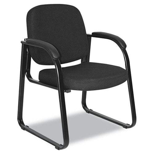 Sled Base Guest Chair, Black w/Black