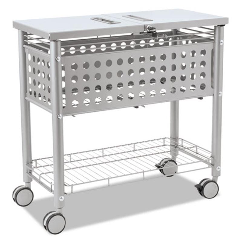 Smartworx Mobile File with Locking Top and Shelf