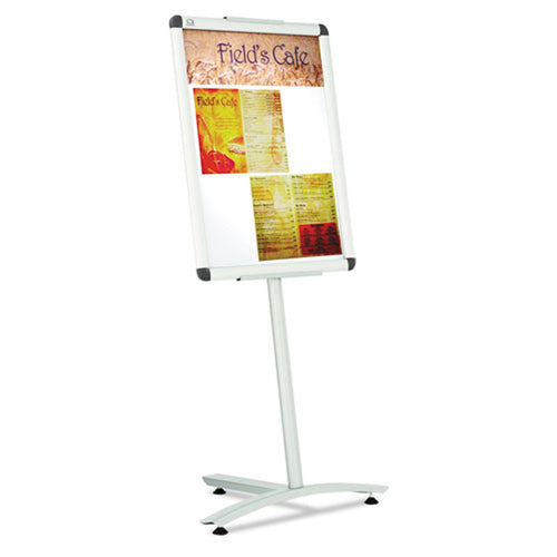 "Snap-Frame Sign Holder (Fits 24"" x 18""), w/ Aluminum Pedestal Base"