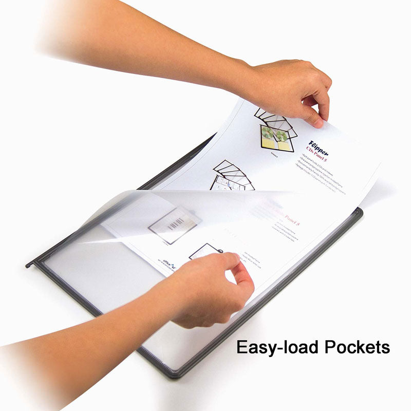 SpaceFile™ 10-Pocket Clamp-on Desktop Reference Organizer