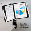 SpaceFile™ 20-Pocket Clamp-on Desktop Reference Organizer
