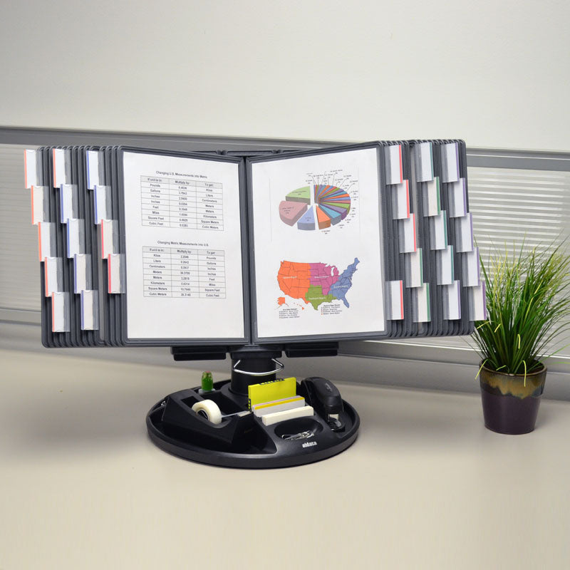SpinFile™ 30-Pocket Executive Desktop Reference Organizer