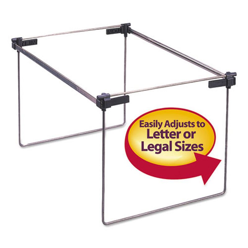 "Steel Hanging Folder Drawer Frame, Letter/Legal Size, 12"" to 24"", (2-pack)"