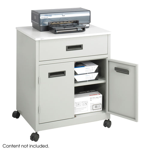 Steel Machine Stand with Drawer Gray