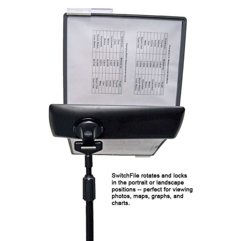 SwitchFile 10-Pocket Desk Clamp Reference Organizer