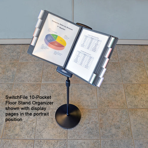 SwitchFile 10-Pocket Floor Stand Reference Organizer